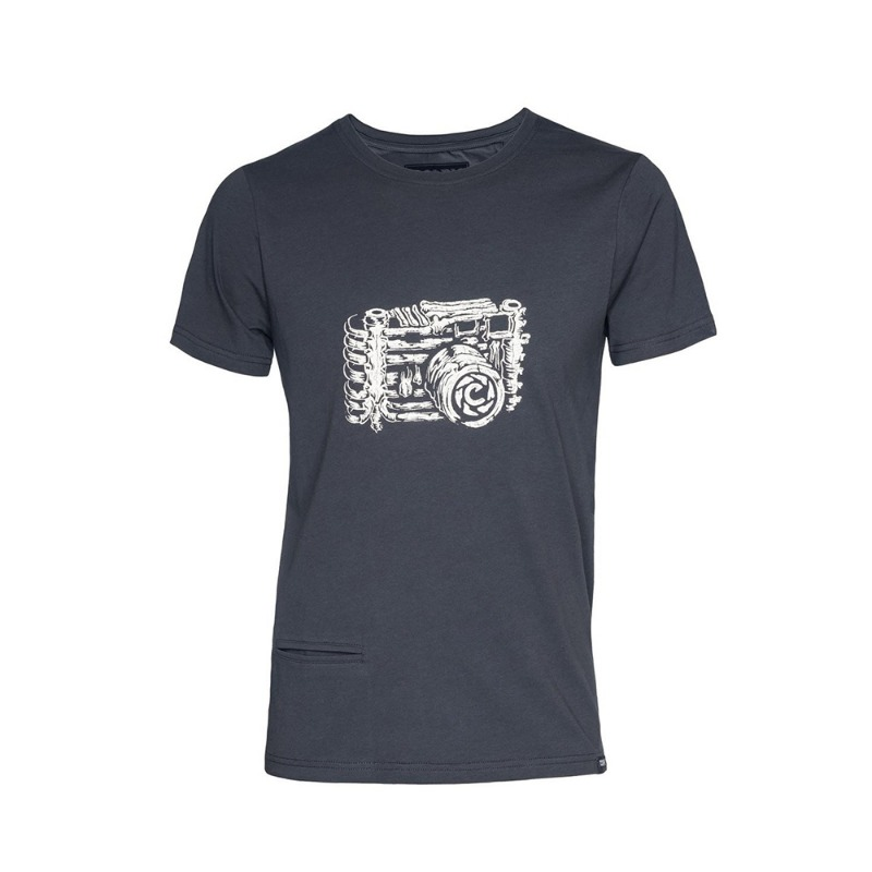 [COOPH] T-Shirt SKELETOGRAPHER Off black (S) [진열품 40%할인]