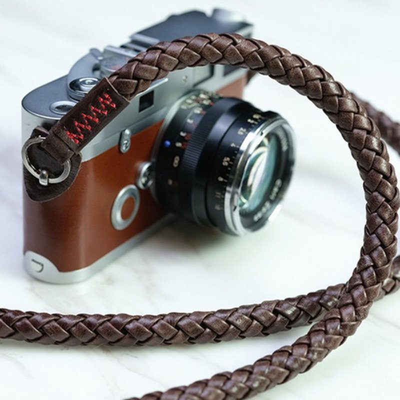 [Barton1972] Leather Neck Strap Braided - Natural